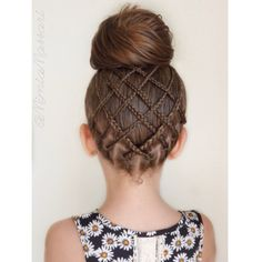 Cross over Micro Braids into a Bun @mimiamassari