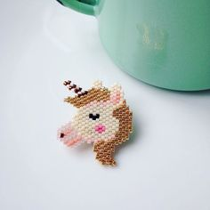 Unicorn Brick Stitch Pattern | Rose Moustache So in my previous post I spoke about my new obsession, brick stitching! It all came about after I tried loom beading, then started to notice these other free-form patterns… colour me intrigued! Brick...