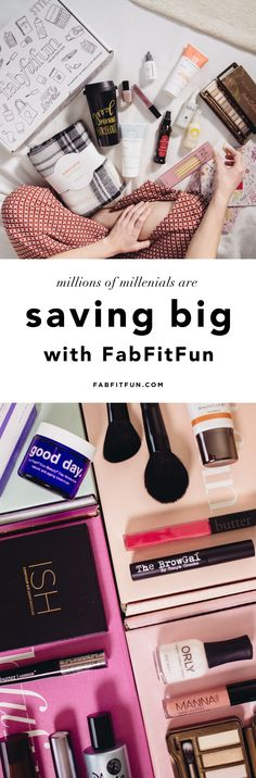 Go big on You (and small on price)! Treating yourself doesn't have to break the bank. For just $39.99, you get over $200 of products in the FabFitFun box w/code HAPPY. FREE SHIPPING. Boxes include a mix of the best in beauty, skin care, fashion, and wellness. Past products include eye shadow palettes, lip kits, under eye creams, mineral peels, masks, candles, diffusers, scarves,  jewelry + more!