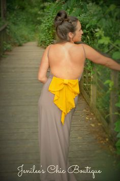 Bow back maxi Jenilee's Chic boutique on FB