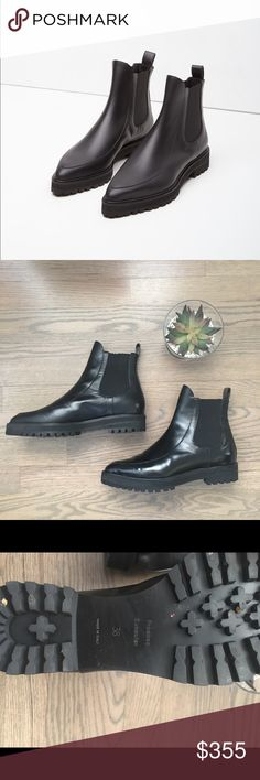 Proenza Schouler Chelsea Boots Black ankle Chelsea boots. Worn twice only. Great fall/winter leather boots. Proenza Schouler Shoes Ankle Boots & Booties