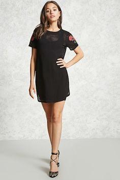 Floral Patch T-Shirt Dress