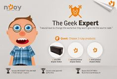 Daniele: Esti geek? Testezi produse nJoy gratis!  http://daniela-florentina.blogspot.ro/2015/05/esti-geek-testezi-produse-njoy-gratis.html