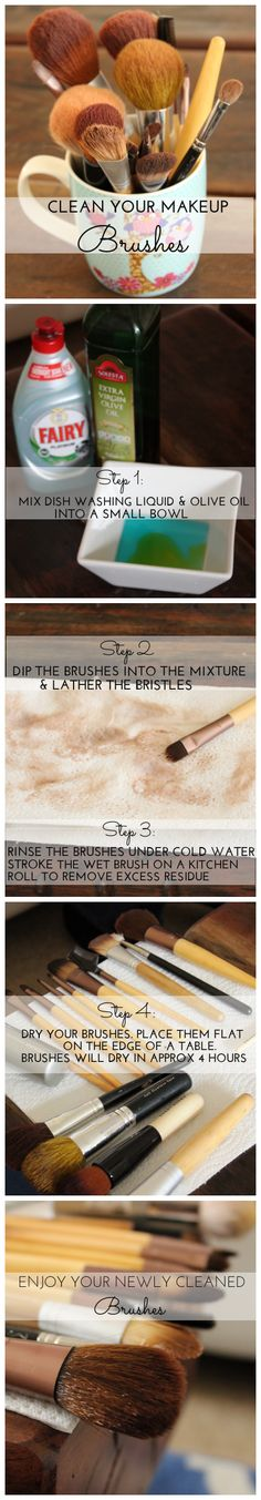 Le Chic By Nadia | HOW TO CLEAN YOUR MAKEUP BRUSHES | #howto #tutorials #beauty http://lechicbynadia.com