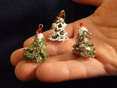 This is a digital pattern and tutorial in pdf format for a very small (size 1 and 1/4 (3cm) when done in size 20 thread) tatted 3D Christmas tree, ready for an instant download. This tutorial will take you through all the steps in detail to enable you to make this little trees. The pattern is visual and suitable for anyone who can tat rings, chains, split rings, and make lock joins. This is a pattern written for two shuttles but can be also made using one shuttle and a ball thread. The…