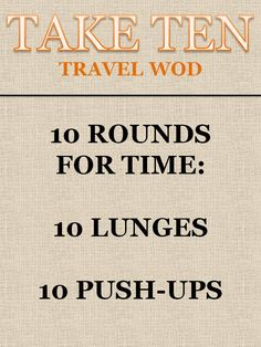Take Ten Travel WOD #crossfit