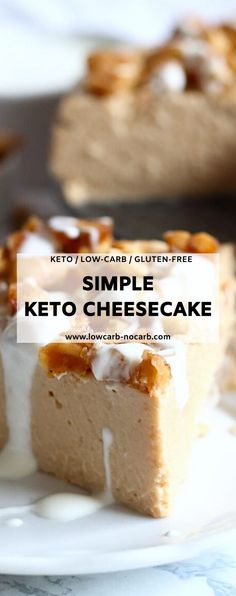 Easy Keto Peanut Butter Cheesecake Instant Pot. Quick and easy to make this homemade Easy Keto Peanut Butter Cheesecake is made in an Instant Pot as the fastest option for your cravings. There is nothing better as when you have an idea or really need something sweet and in about 30 minutes it is all done. And since I have already started making our best ever Instant Pot Keto Cold Start Greek Yogurt on a regular basis, I had an idea to try and make a Cheesecake out of it as well. Tart Recipes, Baking Recipes, Keto Recipes, Dessert Recipes, Low Carb Cheesecake Recipe, Peanut Butter Cheesecake, Sugar Free Treats, Sugar Free Desserts, Low Carb Sweets