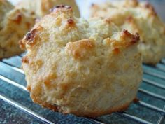 I love drop biscuits.  You get the yummy biscuit flavor and texture without the hassle of rolling and cutting them.