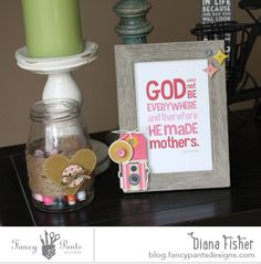 Mother's Day home décor by Diana Fisher using the As You Wish collection by FancyPantsDesigns.com