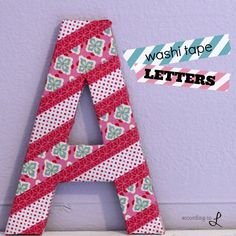 According to L: Washi Tape Letters