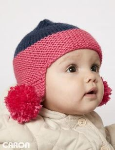 31a71e0707a Keep your little ones warm with this cozy Earflap hat! Easily knit in Caron  Simply Soft