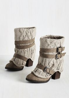 I'm on the fence about these. I could probably make them Cozy Toes Bootie. Even as the temps fall, your style stays on the rise with these taupe booties. Crazy Shoes, Me Too Shoes, Pumps Heels, High Heels, Boho Boots, Vintage Boots, Suede Shoes, Shoes Sneakers, Beautiful Shoes