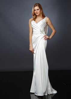 Gorgeous Casual Wedding Dress with a beautiful drape in the back by Impression Bridal