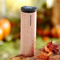 Stainless Steel Hammered Tumbler - Rose Gold, 16 fl oz | Starbucks® Store