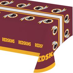 NFL 54 x 102 Plastic Tablecover All Over Print Washington Redskins/Case of 12 Tags: Washington Redskins; Tablecover; NFL Tableware; Washington Redskins party;Washington Redskins party tableware;Washington Redskins Tablecover; https://www.ktsupply.com/products/32786326560/NFL-54-x-102-Plastic-Tablecover-All-Over-Print-Washington-RedskinsCase-of-12.html