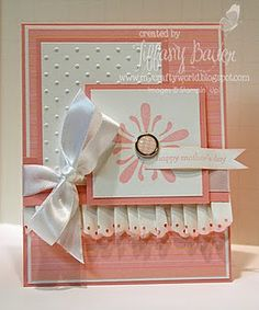 Like how they folded the eyelet border punch to make a ruffle stampin up