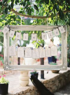 Table Plan Hanging in the Trees