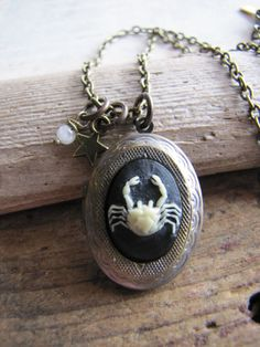 Cancer Locket, Zodiac Jewelry, Zodiac Locket. $32.50, via Etsy.