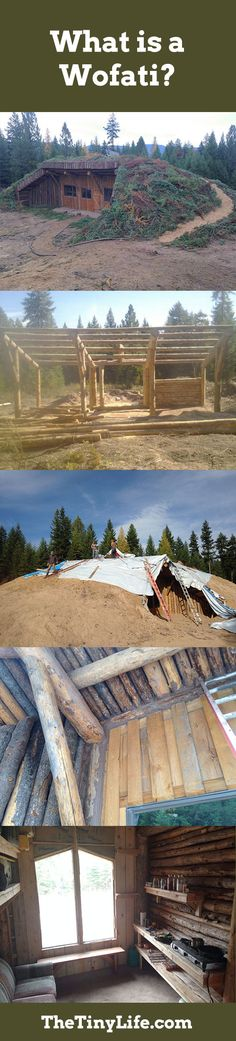 A super cool underground log cabin!