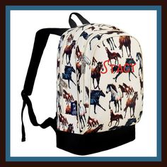 Personalized Backpack - Monogrammed - Horse Dreams by DesignsbyDaffy on Etsy