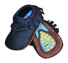 Early Walkers, Lucky Love Baby Moccasins, soft with hard sole • 100% Genuine Leather • Infant, Babies & Toddlers Shoes for Girls and Boys: Shoes