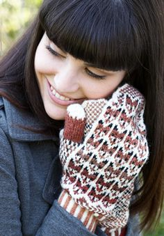 Patons Kroy Socks & Kroy Socks FX - Fox in the Snow Mittens (free knitting pattern)