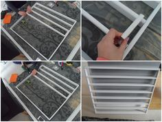 flutter and sparkle: DIY / Tutorial : How to make a nail polish storage unit