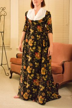 American Duchess: 1790s Chintz Gown - The Home Stretch