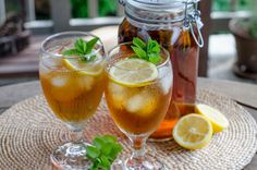 Iced Lemon Mint Tea