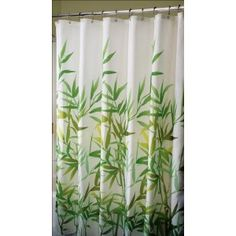 Love the shower curtain w/bamboo!