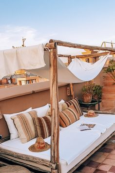 How to pick the best riad to stay at in Marrakech (split by budget) — Helena Bradbury Best Riads In Marrakech, Marrakech Travel, Marrakech Morocco, Marrakesh, Modern Moroccan, Moroccan Style, Ibiza, Porch And Balcony, Visit Morocco