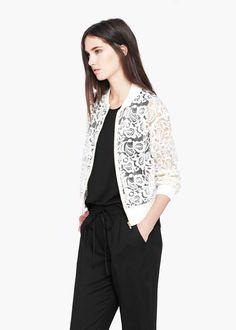 Paisley bomber jacket -  Women | MANGO