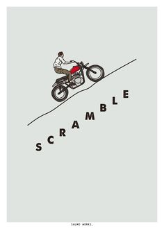 SCRAMBLE - Salmo Works #motorcycles #scrambler #motos | caferacerpasion.com