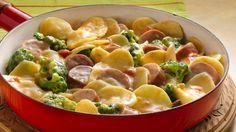 Potato, Broccoli and Sausage Skillet - Best Food Recipes