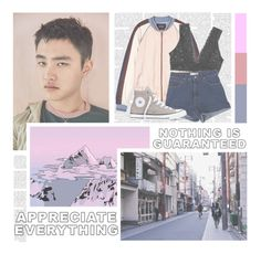 """""""They Never Know--- Exo"""" by alicejean123 ❤ liked on Polyvore featuring Maison Scotch, Monki and Converse"""
