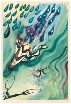 Salvador Dali Paintings, dali 1969 04 The Pool of Tears. Illustration for Alice in Wonderland by Lewis Carroll in an Edition Published by Maecenas Press, New York, Alice In Wonderland Illustrations, Alice In Wonderland Book, Adventures In Wonderland, Lewis Carroll, Salvador Dali Kunst, Colossal Art, Art Paintings, Wall Art Prints, Artsy