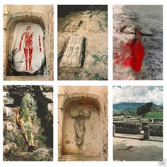 """cavetocanvas: """" Ana Mendieta, Silueta Works in Mexico, From The Museum of Contemporary Art, Los Angeles: """" Ana Mendieta was born into a politically prominent family in Cuba closely affiliated. Day Of Dead, Warrior Angel, Land Art, Dark Fantasy Art, Art Goth, Art Environnemental, Museum Of Contemporary Art, Contemporary Dance, Dibujo"""