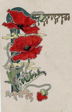 ideas for vintage flowers drawing art nouveau alphonse mucha Fleurs Art Nouveau, Motifs Art Nouveau, Motif Art Deco, Art Nouveau Design, Art Nouveau Flowers, Art Nouveau Tiles, Alphonse Mucha, Art And Illustration, Illustration Fashion