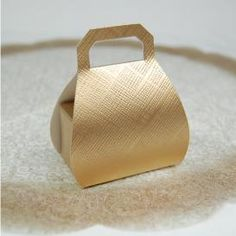 Favor Bag With Handle Gold for Popcorn