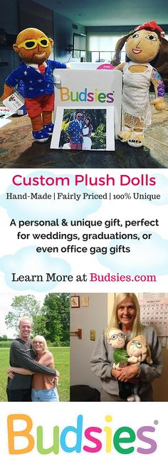 Turn yourself, friends, coworkers and loved ones into a custom plush doll for their birthday, the holidays or just because you love them! This completely custom-made, personal gift is something they'll cherish forever and ONLY $89. To see more of our Selfie examples or learn more about our process, visit Budsies.com
