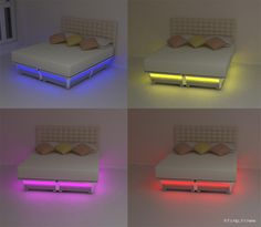 Balluga Bed's  LED color lights