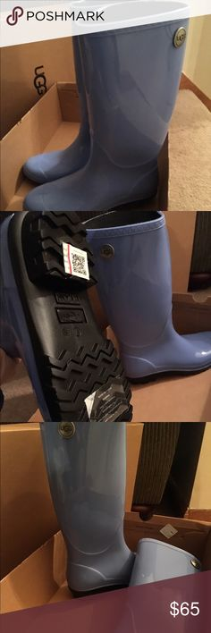 Ugg Shaye rain boots Great Christmas gift!! New in the box . Size 7 rain boot style Shaye by Ugg in sky blue UGG Shoes Winter & Rain Boots