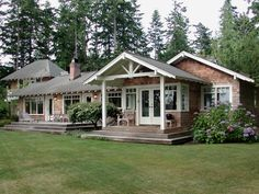 cottage plans, small house plans, cabin plans, small homes designed by Ross Chapin Porch Kits, Porch Ideas, Building A Porch, Cottage Style Decor, House With Porch, Small House Plans, Ranch Style, My Dream Home, Decoration