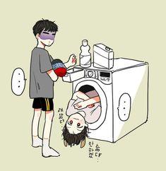 Exo Chanbaek, Chansoo, Kyungsoo, Exo Chanyeol, Exo Anime, Exo Fan Art, Exo Lockscreen, Book Drawing, Fanarts Anime