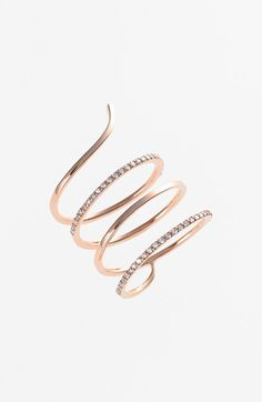 KISMET by Milka 'Lumiere' Diamond Coil Ring available at #Nordstrom