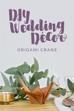 Making some of your Wedding Décor items can shave a lot off of your Wedding Budget. This easy Step-by-Step Origami Crane tutorial is a great way to save a little and have a beautiful and stylish Décor element for your Wedding Reception.  #wedding #weddingdécor #décor #weddingDIY #DIY #DIYdécor #DIY #weddingtable #tablesetting #origami #origamicrane #weddingbudget #weddingreceptionideas #weddingreception #howto