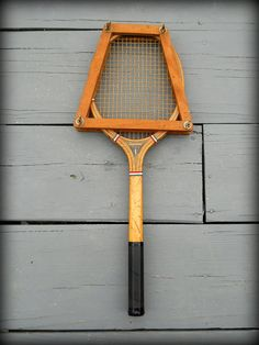Vintage Wood Tennis Racket Challenge with Racquet by wperry42, $29.00