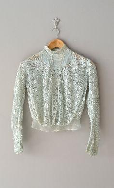 vintage Edwardian blouse / lace 1910s blouse