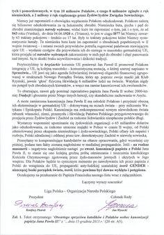 Otwarty sprzeciw katolików i Polaków wobec kanonizacji papieża Jana Pawła II - Wolna Polska - Wiadomości