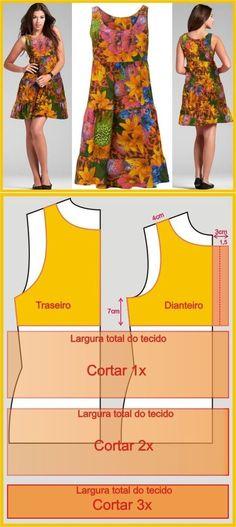 Vestido de Dama #costura #moldes #patrones